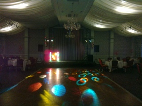 Keavil House Hotel, Crossford. Atomik Disco Edinburgh Upgraded Standard Size Disco System (with space left on the stage for a small band).