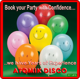 Atomik Mobile Discos and Karaokes Edinburgh, have Years and Years of Experience - Book your Party with absolute Confidence.