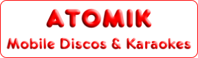 Atomik Mobile Disco and Karaoke, Edinburgh, Midlothian, Scotland suppliers of specialist DJs for every occasion Logo.